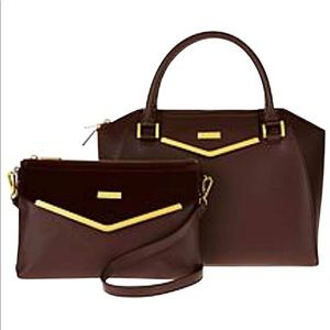 JOY & IMAN Couture Leather Satchel and Crossbody
